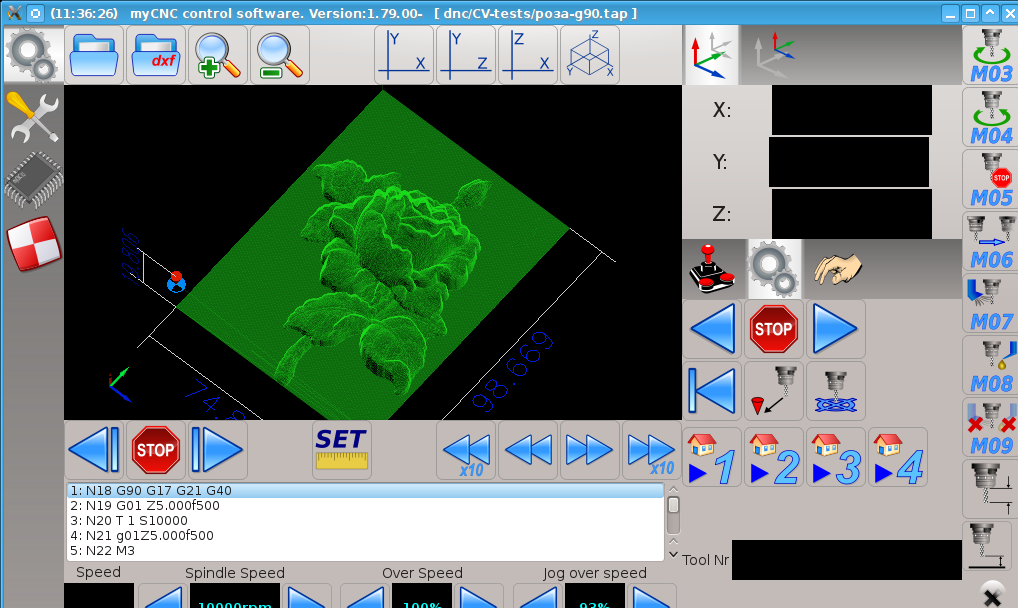 CNC control software rose cutting