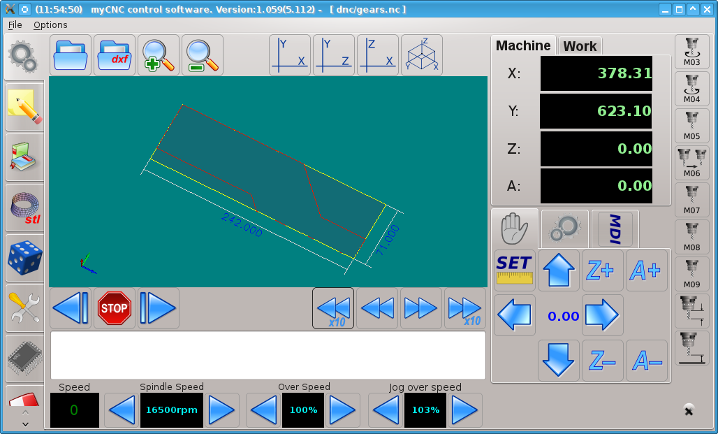 myCNC DXF import into CNC software