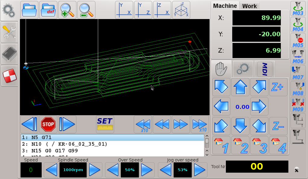 Canned cycles in myCNC software G83